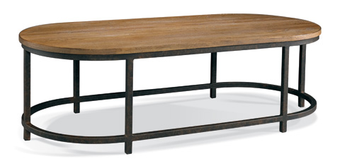 CTH-Sherrill Occasional - French Industrial Oval Cocktail Table - 365-820