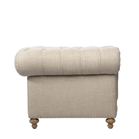 Curations Limited - Beige Cigar Club Armchair - 7841.0001.A015