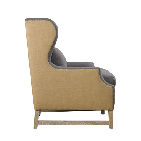 Curations Limited - Grey Gracia Armchair - 7841.1001