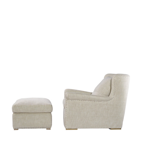 Curations Limited - Beige Linen Winslow Lounge Chair - 7841.1003.A015