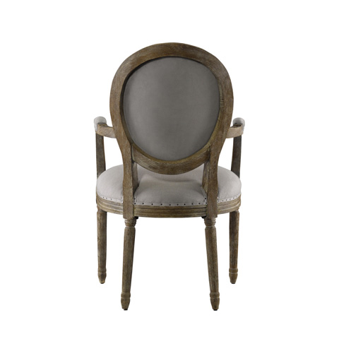 Curations Limited - Vintage Louis Round Arm Chair - 8827.0022