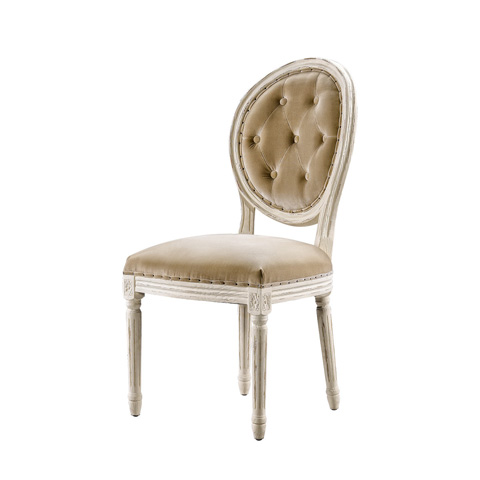 Curations Limited - Vintage Louis Button Tufted Side Chair - 8827.2003