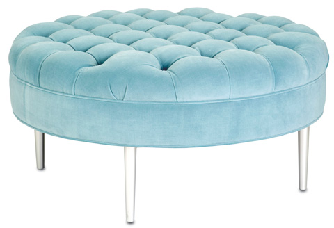 Currey & Company - Starlet Cocktail Ottoman - 7038