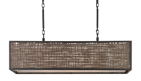 Currey & Company - Modello Rectangular Chandelier - 9601