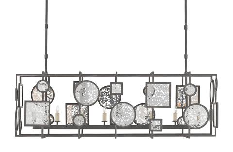 Currey & Company - Gallerist Rectangular Chandelier - 9640