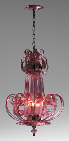 Cyan Designs - Pink Florence Chandelier - 04621