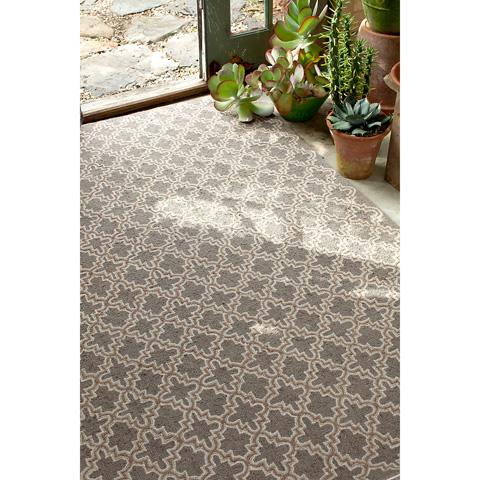 Dash & Albert Rug Company - Plain Tin Charcoal Wool Hooked 8x10 Rug - RDA168-810