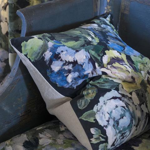 Designers Guild - Bloomsbury Rose Indigo Throw Pillow - CCDG0425