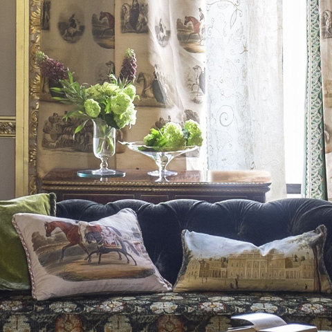 Designers Guild - Royal Promenade Linen Throw Pillow - CCRC0037