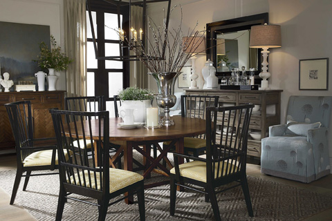 Drexel Heritage - Well-Rounded Dining Table - 640-620B/640-622T