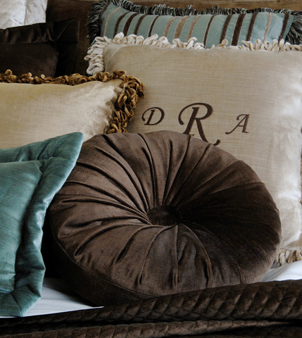 Eastern Accents - Lucerne Mocha Tambourine Throw Pillow - LCR-152-10