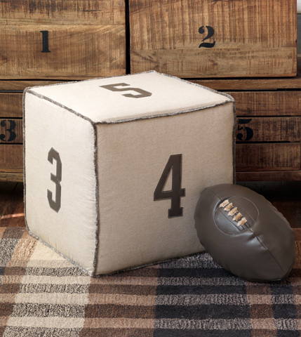 Eastern Accents - Hoffman Granite Football Pillow - ESO-11