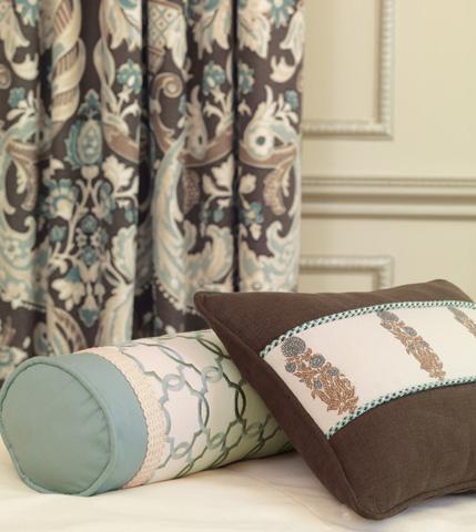 Eastern Accents - Verlaine Ocean Neckroll Pillow - KIR-10
