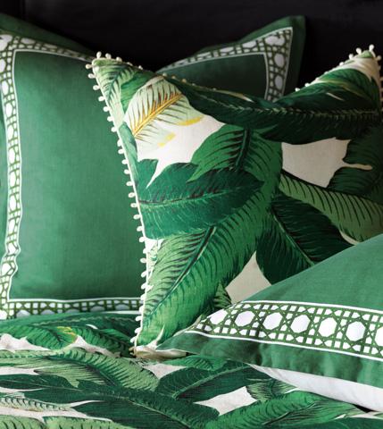 Eastern Accents - Lanai Palm Pillow with Loop Trim - LAN-01