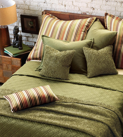 Eastern Accents - Melange Pillow with Mini Flange - MLG-123-01