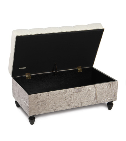 Eastern Accents - Breeze Pearl Storage Ottoman - OTD-278
