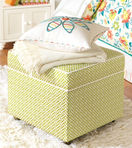 Eastern Accents - Chive Sparrow Storage Boxed Ottoman - OTD-336