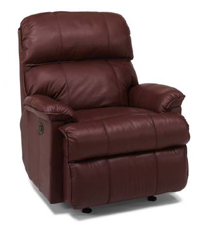 Image of Leather Power Rocking Recliner