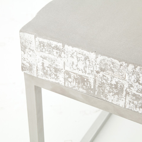 Four Hands - Concrete And Chrome End Table - VCNS-F010