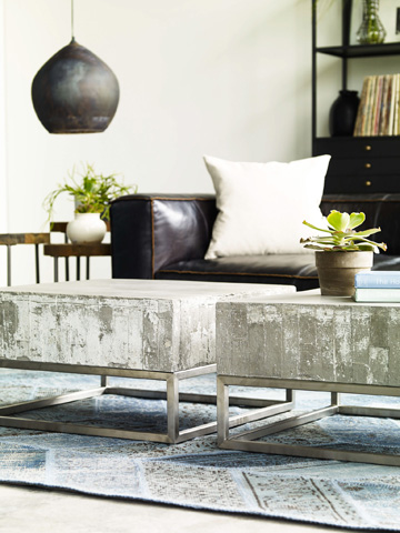 Four Hands - Concrete And Chrome Coffee Table - VCNS-F011