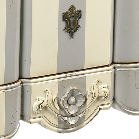 French Heritage - Toulouse Louis XIV 3 Drawer Chest - A-2302-402-WHGY