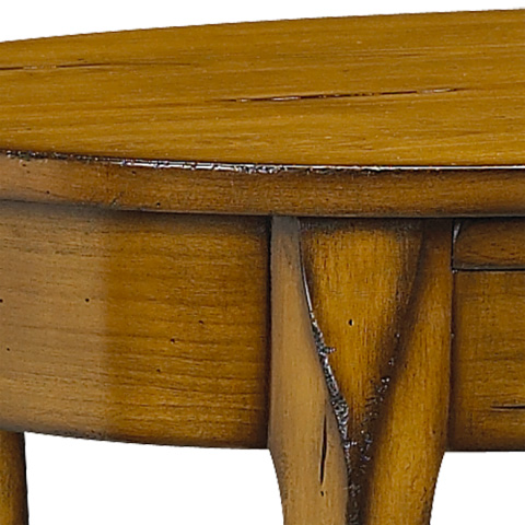 French Heritage - Cardinet Cherry Oval Side Table - A-2443-401-ACHB
