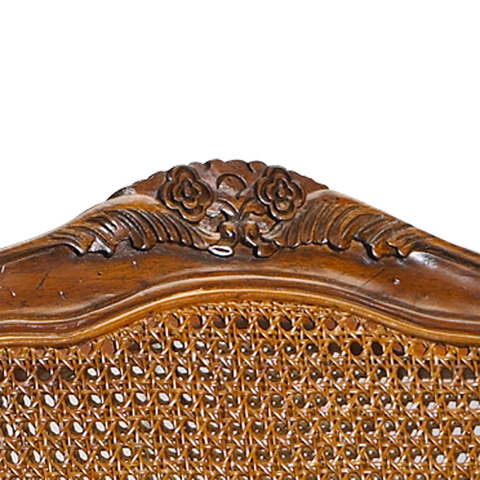 Image of Burgundy Double Cane Back Arm Chair
