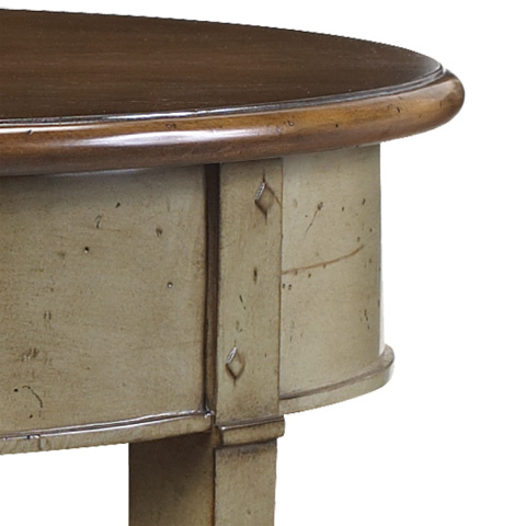 French Heritage - Round One Drawer Side Table - M-1342-403-ANGR