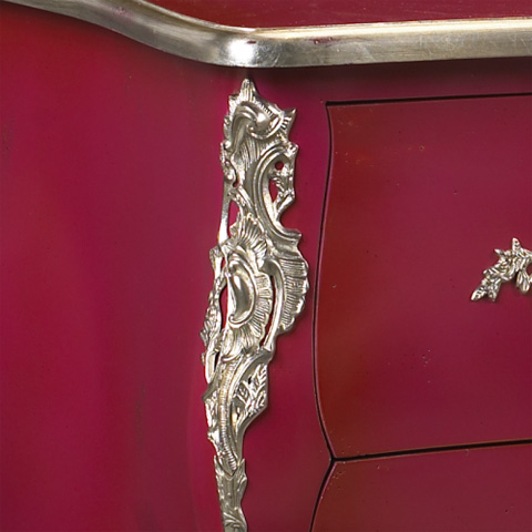 French Heritage - Sennely Pink Two Drawer Chest - M-1502-401-PINK