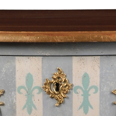 French Heritage - Bonneau Hand-Painted Accent Chest - M-1502-413-IVBL