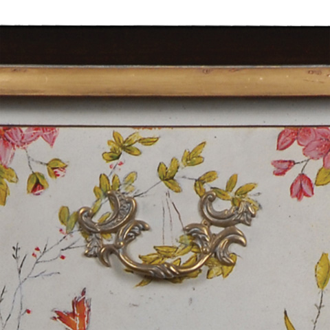 French Heritage - Ophelia Hand-Painted Bombe Chest - M-1502-414-DPAF