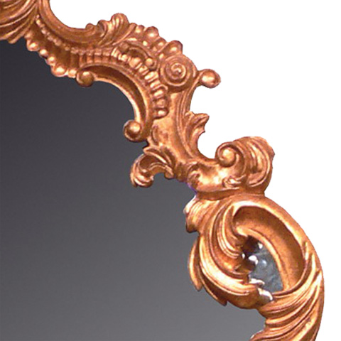 Image of Louis XV Carved Floor Mirror in Gold Leaf