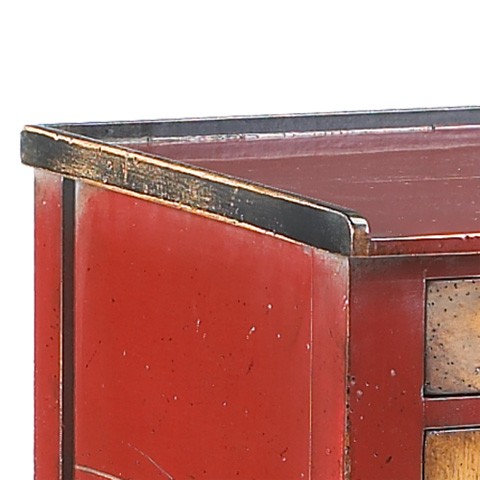 French Heritage - Small Accent Table in Red - M-FL41-205-RED
