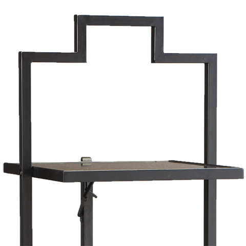 French Heritage - Large Square Accent Table in Black - M-FT90-200-BLK