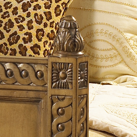 French Heritage - Lilles Wood Panel Queen Bed - M-1110-603-VBO