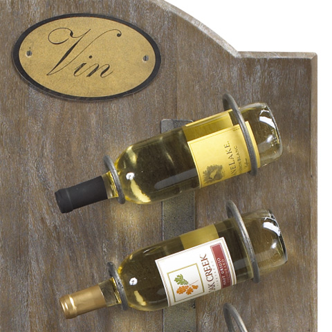 French Heritage - Anjou Wine Wall Rack - M-1359-1203-TBL