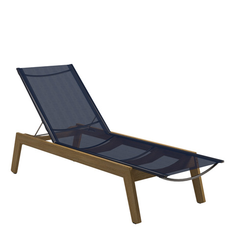 Gloster - Solana Sling Chaise Lounger with Wheels - 1850
