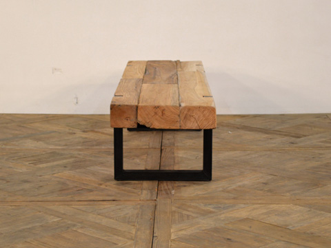 GJ Styles - Reclaimed Teak and Iron Coffee Table - DB02