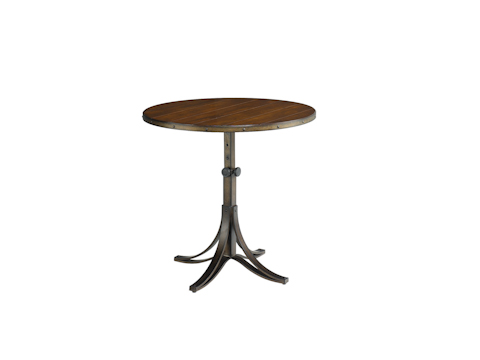 Image of Mercantile Round Adjustable Accent Table