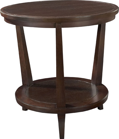 Hickory Chair - Rye Round Side Table in Mahogany - 186-11