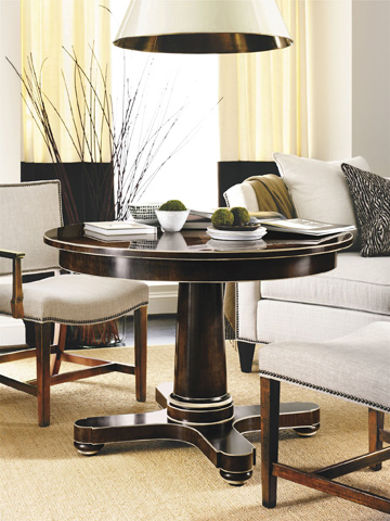Hickory Chair - Hudson Round Dining Table - 5744-70/5742-70