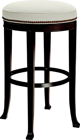 Hickory Chair - Newbury Swivel Curved Back Barstool - 138-14