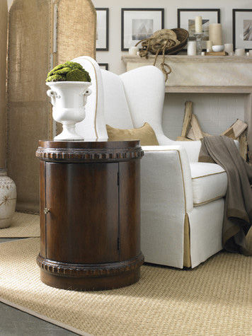 Hickory White - Drum Table - 863-24