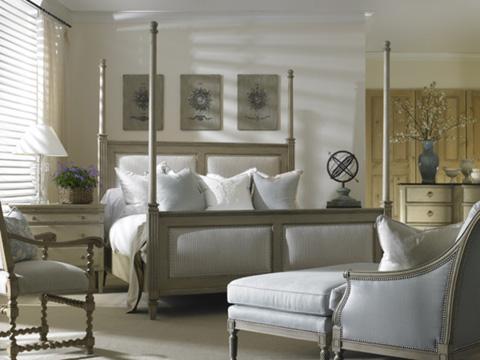 Hickory White - King Upholstered Hi-Lo Poster Bed - 865-26