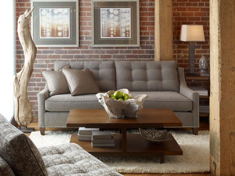 Highland House - Pyper Tufted Sofa - CA6002-84