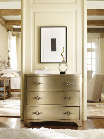 Hooker Furniture - 3 Drawer Shaped Front Gold Chest - 3008-85004