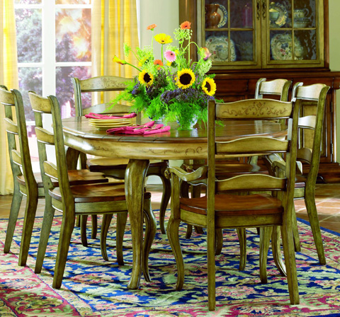 Image of Vineyard Round Dining Table w/1-20