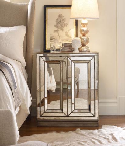 Hooker Furniture - Two Door Mirrored Nightstand - 3014-90015
