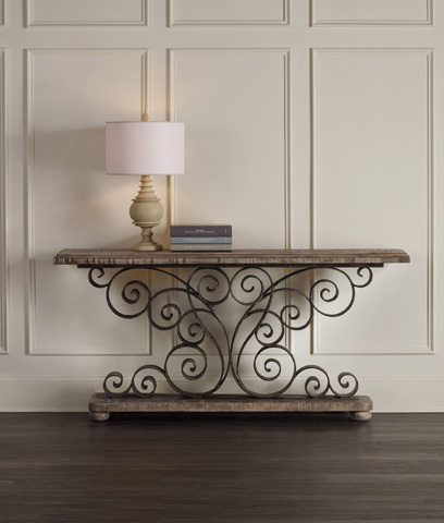 Hooker Furniture - Metal Scroll Console - 5321-85001