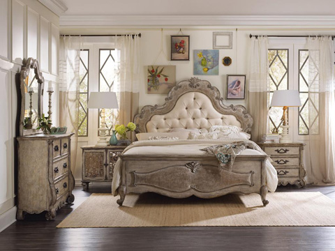 Hooker Furniture - Chatelet Queen Upholstered Panel Bed - 5450-90850